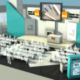 CGI Render of an Exhibition Stage to show what the Theatre will look like when built and with B&Q branding