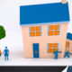 Frame of Animation from ING Financial Educational Animations showcasing builders working on a house with woman and dog