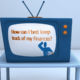 Frame of Animation from ING Financial Educational Animations with TV and Intro Text to animation on keeping track of finances