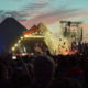 Glastonbury Festival Pyramid Stage at Night capturing B-Roll Additional Content